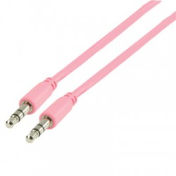 VLMP 22000 P1.00 STEREO AUDIO CABLE 3.5MM PINK 1.00m