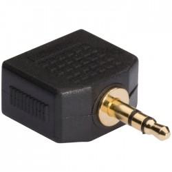 KNA 22945E 3.5 mm audio splitter 3.5 mm male - 2x 3.5 mm female