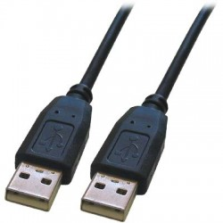 CABLE-140HS USB A TO A 1.8M BLACK