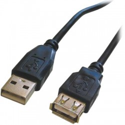CABLE-143HS USB A MALE-USB A FEMALE 1.8M            68715