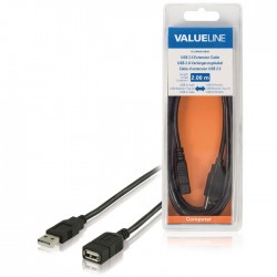 VLCB 60010B 2.00 cable USB A male - USB A female