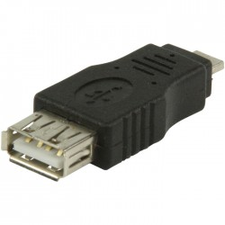 VLCP 60903B USB 2.0 USB A female - USB micro A male adapter