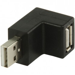 VLCP 60940B USB 2.0 USB A male - USB A female 270° hooked adapter