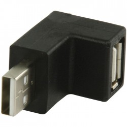 VLCP 60930B USB 2.0 USB A male - USB A female 90° hooked adapter
