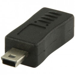 VLCP 60907B USB 2.0 USB micro B female - USB mini 5-pin male adapter