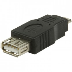 VLCP 60901B USB 2.0 USB A female - USB micro B male adapter
