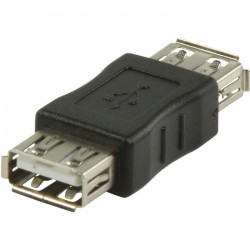VLCP 60900B USB 2.0 USB A female - USB A female adapter