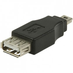 VLCP 60902B USB 2.0 USB A female - USB mini 5-pin male adapte