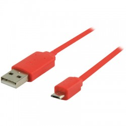VLMP 60410 R1.00 RED USB 2.0, A Male - Micro B Male, 1.00 m