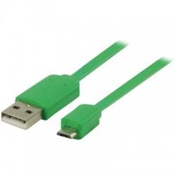 VLMP 60410 G1.00 GREEN USB 2.0, A Male - Micro B Male, 1.00 m