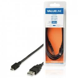VLCB 60500B 2.00 cable USB A male - USB Micro B male