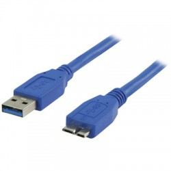 VLCP 61500L 1.00  USB A male - USB micro B male cable