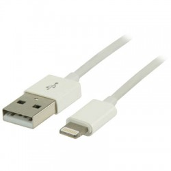 VLMP 39300 W2.00 WHITE USB sync & charge cable lightning male