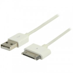 VLMP 39100 W1.00 WHITE Data & Charging cable 1.00 m