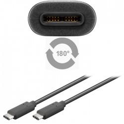 67976 USB 3.1 C/C BLACK 1m