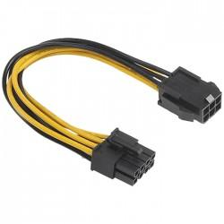 AKASA AK-CB051 ΚΑΛΩΔΙΟ PCIe 6PIN ΣΕ ATX12V 8PIN 0,15M