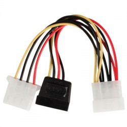 VLCP 73525V 0.15 SATA 15-pin female - Molex male + Molex female