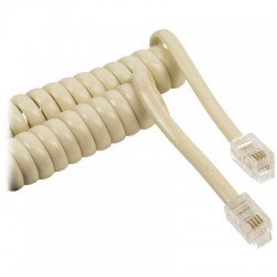 VLTP 90100I 2.00 IVORY Coiled headset cable RJ10 male - RJ10 male