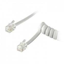 72756 HANDSET CABLE CU RJ10 male (4P4C)/RJ10 male (4P4C) 2m WHITE