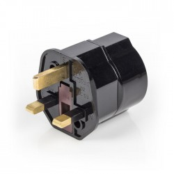 EL-TRAVEL 01 BL Travel Adapter Europe-to-UK Earthed