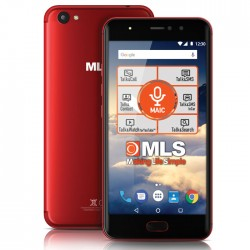"MLS DX 5.5"" 4G RED DUAL CAMERA DUAL SIM"