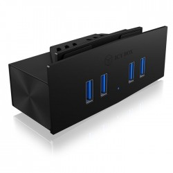 ICY BOX IB-HUB1408-U3 4 PORT USB 3.0 CLAMP HUB / 60252