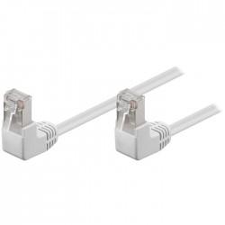 96070/1m  CAT 5e Network cable, 90° angled, U/UTP