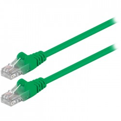 68612 CAT 5e U/UTP PATCH CABLE 0.25m GREEN