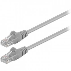 68342 CAT 5e U/UTP PATCH CABLE 1m GREY