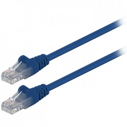68340 CAT 5e U/UTP PATCH CABLE 1m BLUE