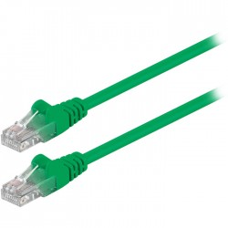 68338 CAT 5e U/UTP PATCH CABLE 0.5m GREEN