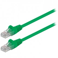 68343 CAT 5e U/UTP PATCH CABLE 1m GREEN