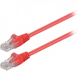 68344 CAT 5e U/UTP PATCH CABLE 1m RED
