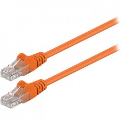 95201 CAT 5e U/UTP PATCH CABLE 0.25m ORANGE