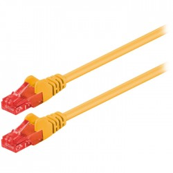 68438 CAT 6 U/UTP PATCH CABLE CCA 1m YELLOW
