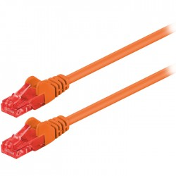 95262 CAT 6 U/UTP PATCH CABLE CCA 1m ORANGE