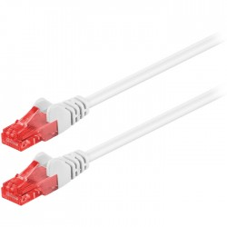 68632 CAT 6 U/UTP PATCH CABLE CCA 0.5m WHITE