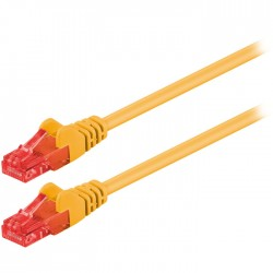 68433 CAT 6 U/UTP PATCH CABLE CCA 0.5m YELLOW