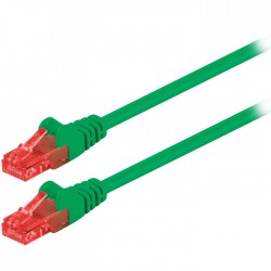 68440 CAT 6 U/UTP PATCH CABLE CCA 1m GREEN