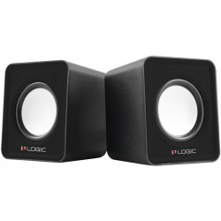 LOGIC LS-09 BLACK STEREO 2.0 SPEAKERS