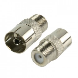 FC-028PROF Coax Adapter F Female - Coax Female Silver