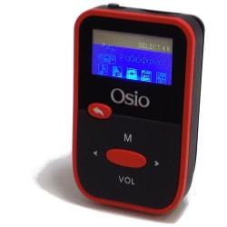 OSIO MP3 PLAYER - FM RADIO ΜΕ ΟΘΟΝΗ & ΚΛΙΠ ΖΩΝΗΣ, ΜΑΥΡΟ-ΚΟΚΚΙΝΟ