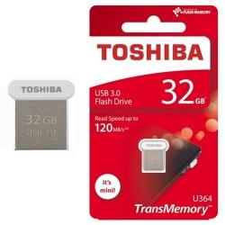 USB STICK 3.0 TOSHIBA 32GB U364 ULTRAFIT mini SUPER SPEED ΑΣΠΡΟ