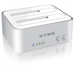 "ICY BOX IB-120CL-U3 DOCKING F.2x 2,5""OR 3,5""SATA HDD TO USB/20907"