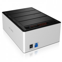 "ICY BOX IB-141CL-U3 DOCKING STATION, 4x SATA 2,5""/3,5"" USB 3.0 ALUMINIUM / 20919"