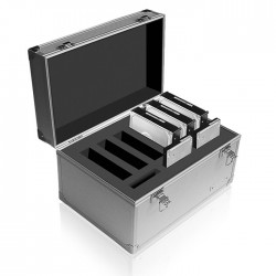 "ICY BOX IB-AC626 ALUMINIUM SUITCASE FOR 6x3.5"" + 3X2.5""    /70626"
