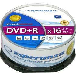ESP DVD+R 4,7GB X16 - CAKE BOX 25 PCS