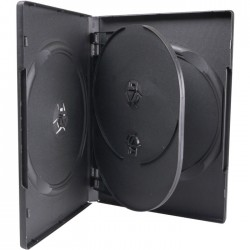 ESP CASE 4 DVD 14mm BLACK WITH TRAY