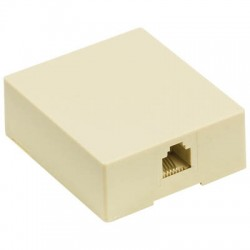 VLTP 90822I Telecom wall box RJ11 female ivory