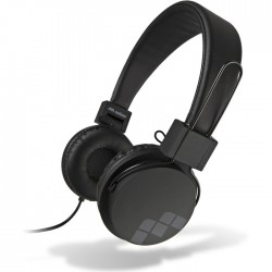 MELICONI MYSOUND SPEAK STREET BLACK ON-EAR STEREO HEADPHONE (WITH MICROPHONE)